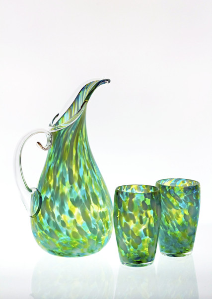 Fleur_Lime_Teal_Pitcher_and_Tumbler-427x600